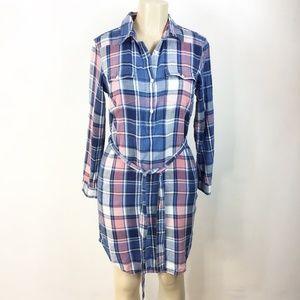 Gap Women's Plait Shirt Dress Extra Small Navy Blu